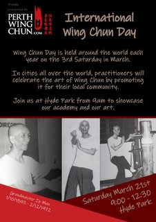 World Wing Chun Day - Saturday March 21st 2020